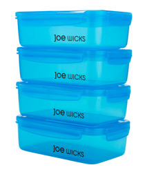 4pc Blue rectangular container set