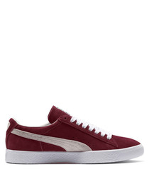 Suede pomegranate sneakers