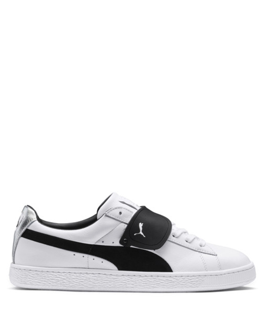 X Karl black & white leather sneakers Sale - puma