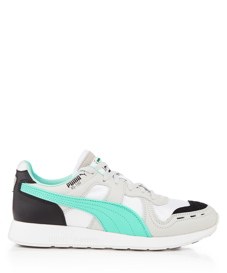 RS-100 Futro grey & turquoise sneakers Sale - puma