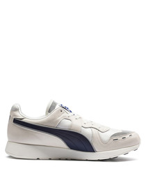 RS-100 PC grey & navy leather sneakers