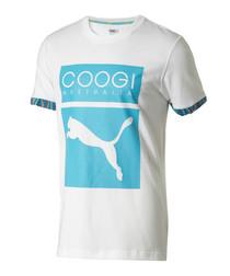 PUMA/COOGI white cotton LOGO T-shirt
