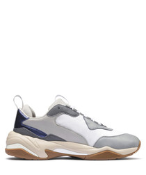 THUNDER ELECTRIC grey leather sneakers