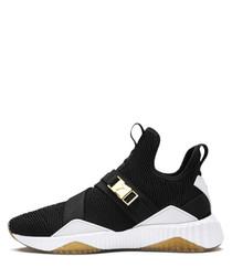 DEFY MID VARSITY black mesh sneakers