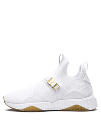 DEFY MID VARSITY white mesh sneakers