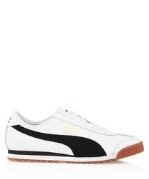 ROMA TOMAS MAIER white suede & leather