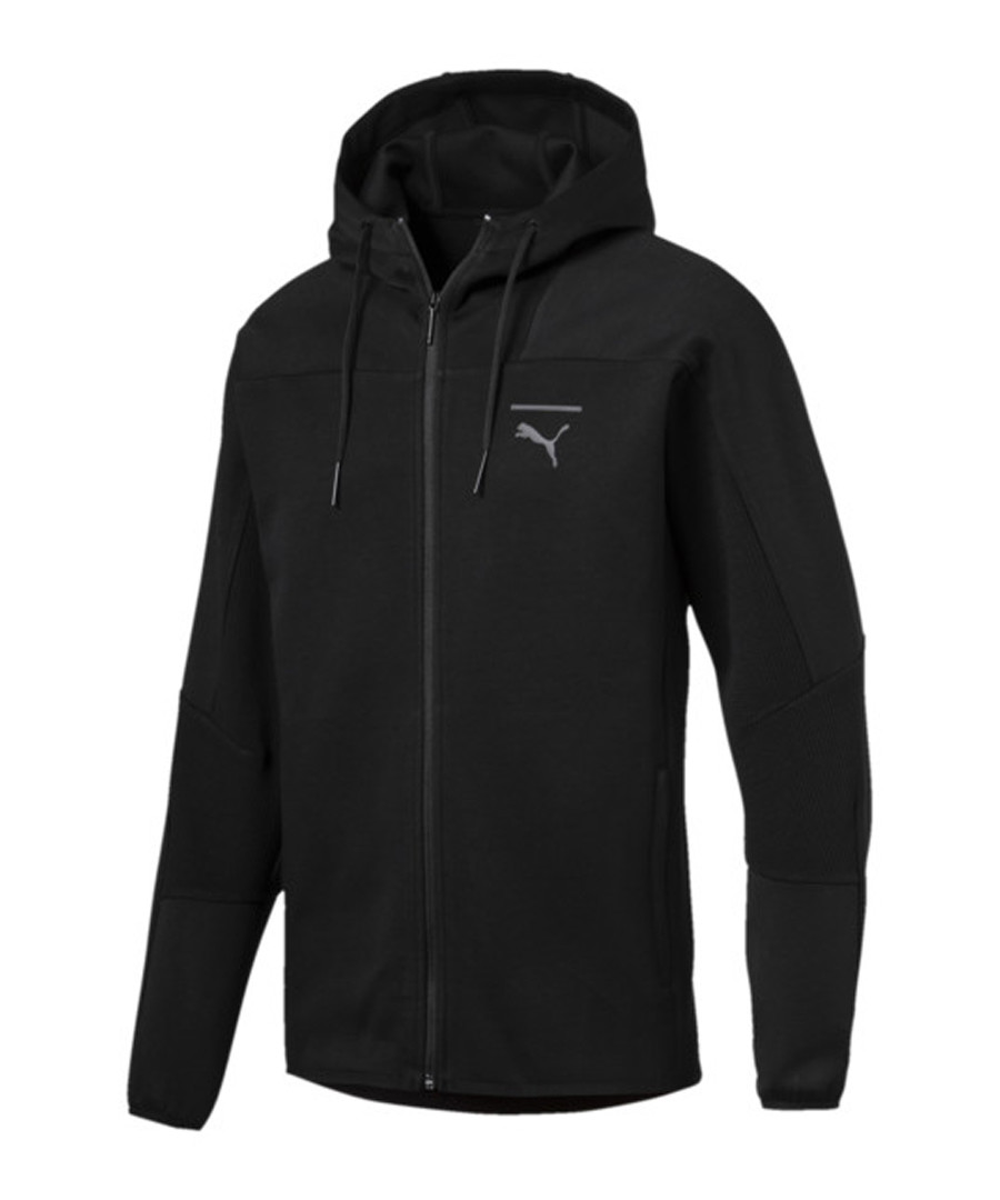 Men's PACE FZ black cotton blend HOODie Sale - puma