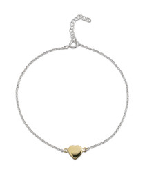 Yellow gold-plated heart bracelet