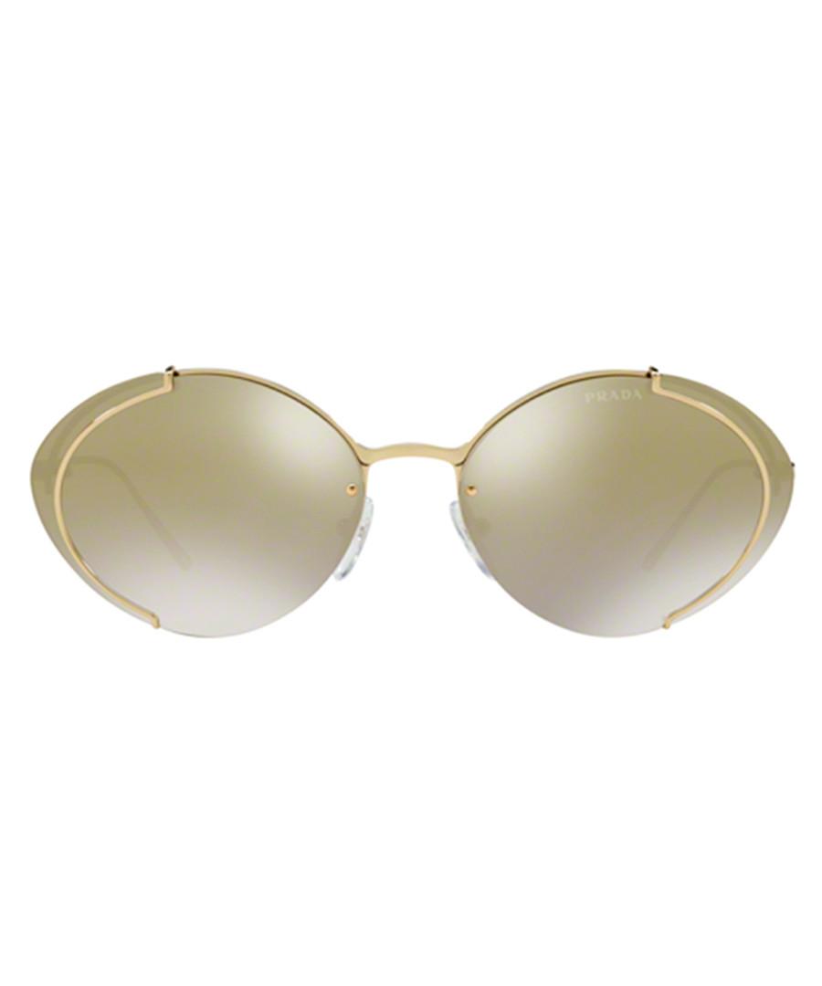 Gold-tone oval sunglasses Sale - Prada