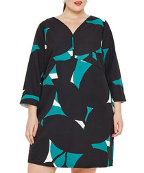 Vanessa teal collage dress