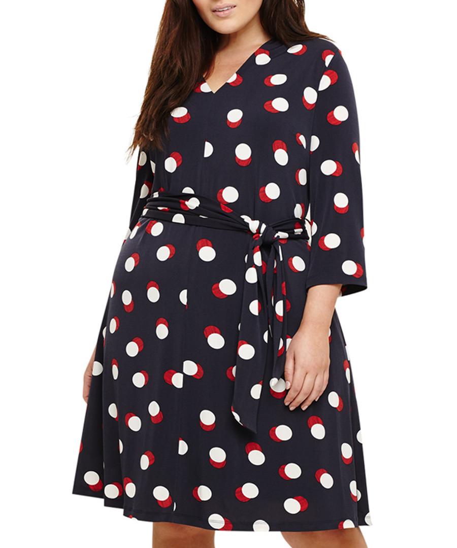 Anne navy, white & red dots dress Sale - studio eight