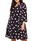 Anne navy, white & red dots dress Sale - studio eight Sale