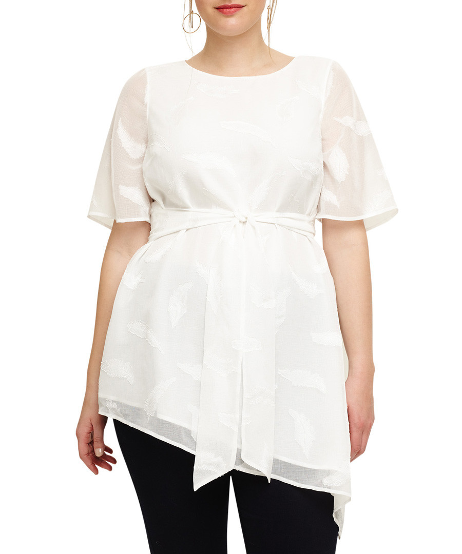 Sloane ivory waist-tie asymmetrical top  Sale - phase eight