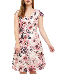Joselyn pale pink floral dress