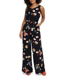 Berdina navy & floral jumpsuit