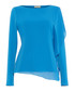 Camille blue cascade long sleeve top Sale - phase eight Sale