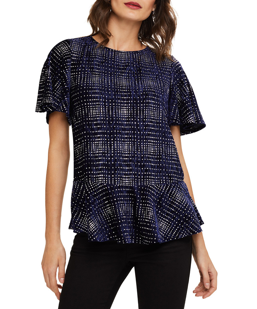 Cailee navy & silver-tone tiled top Sale - phase eight