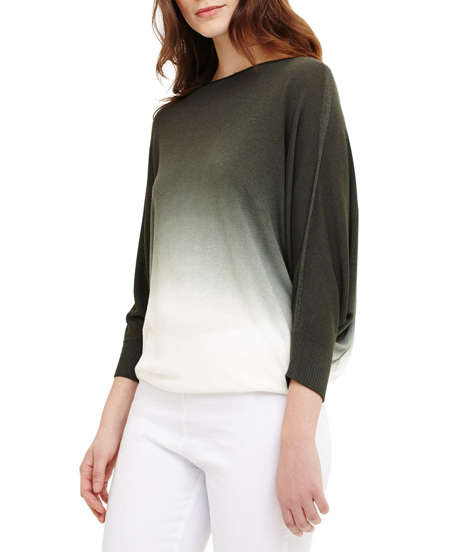 Summer khaki & white gradient top Sale - phase eight