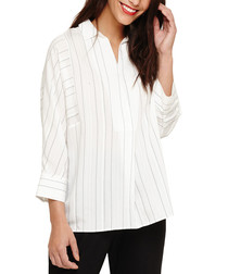 Brogan ivory stripe blouse