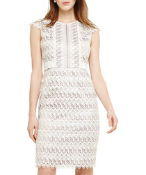 Ally ecru lace sleeveless dress