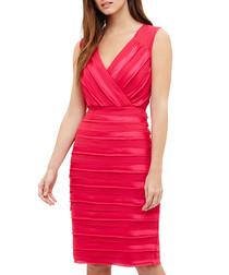 Sadie fuchsia stripe sleeveless dress