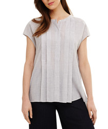 Finlay ash pure cotton pleated blouse