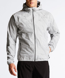 Grey lightweight waterproof jacket