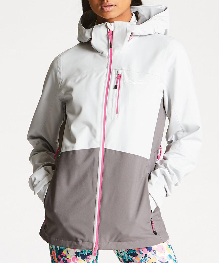 White & grey waterproof jacket Sale - dare2b