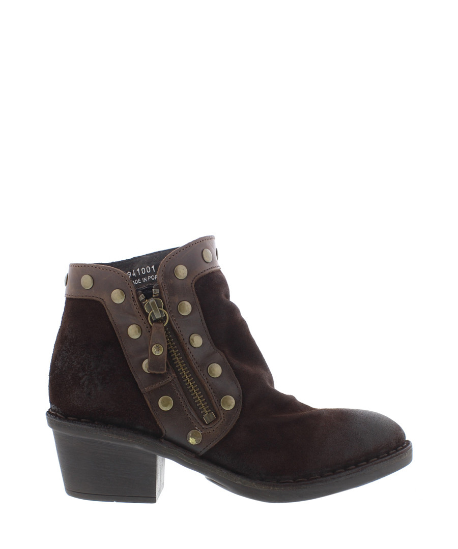 Dolores espresso leather ankle boots Sale - fly london
