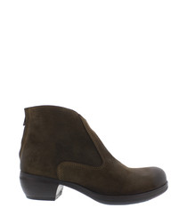 Myla brown leather ankle boots
