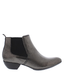 Savannah silver heeled Chelsea boots