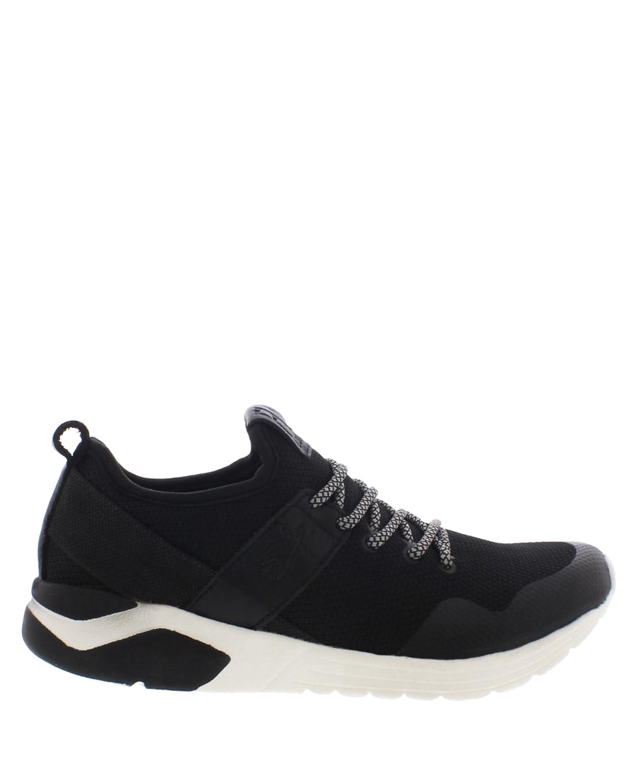 Sky black leather sneakers Sale - fly london