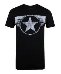 Men's Captain America black T-shirt