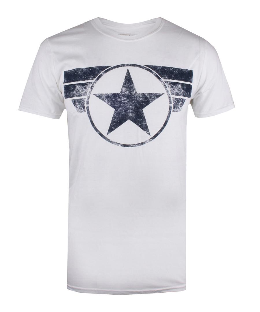 Men's Captain America white T-shirt Sale - marvel