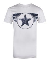 Men's Captain America white T-shirt