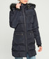 Navy padded hooded coat Sale - giorgio di mare Sale
