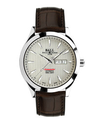 Chronometer Red Label brown strap watch