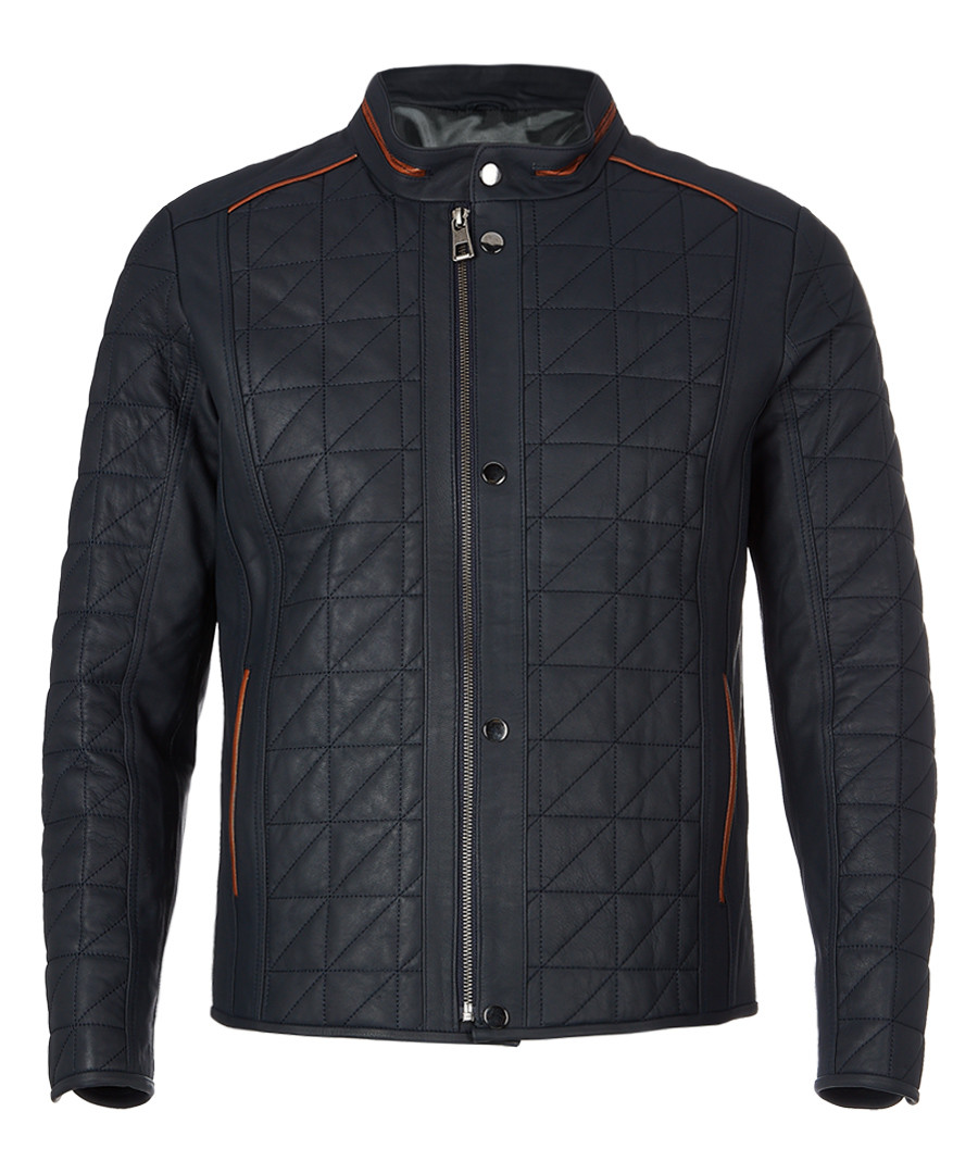 Walnut quilted leather jacket Sale - felix hardy