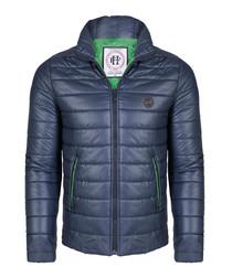 Navy & green padded coat