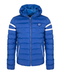 Sax blue padded coat