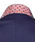 Navy cotton blend one-button blazer Sale - felix hardy Sale