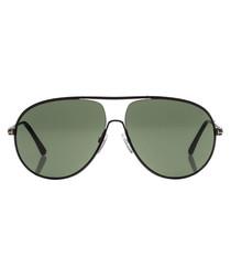 Black & green aviator sunglasses