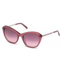 Pink & silver-tone sunglasses