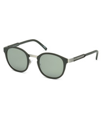 Green & grey rounded sunglasses