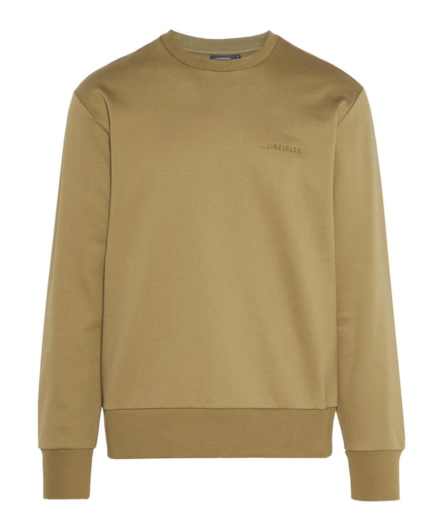 Chip Lux khaki cotton blend jumper Sale - j lindeberg