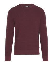 Lexter Square plum cotton blend jumper