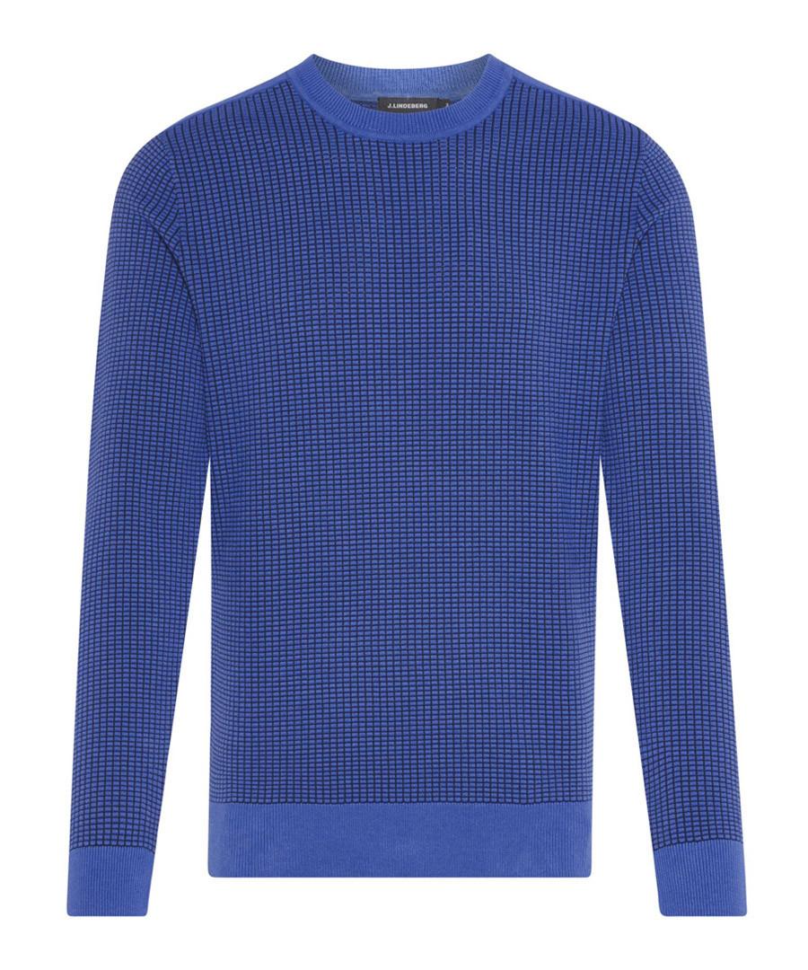Hemp CTN indigo cotton blend jumper Sale - j lindeberg