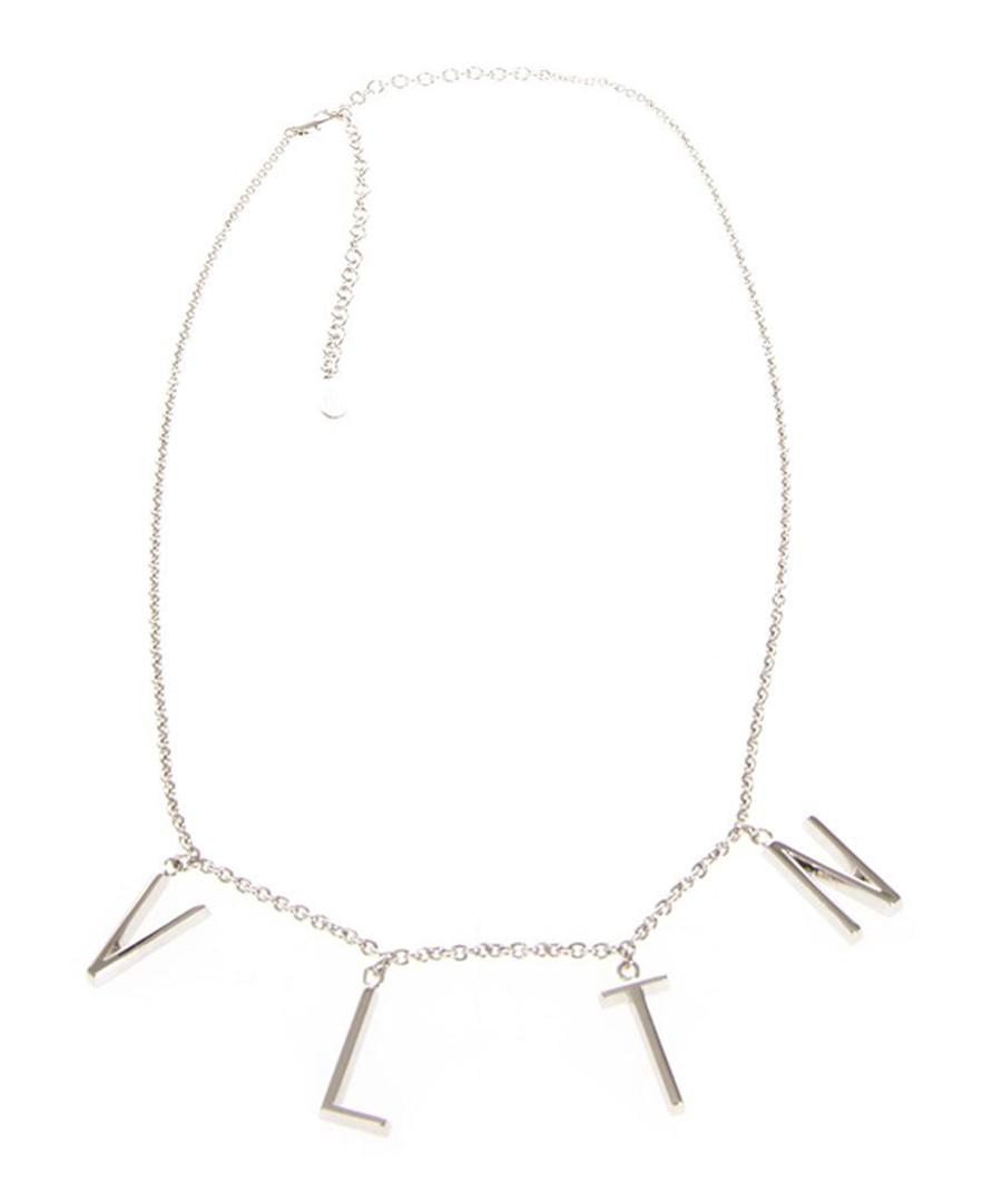 VLTN silver-tone logo necklace Sale - valentino garavani
