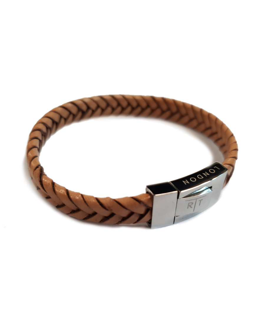 Tan leather braided bracelet Sale - Tateossian London