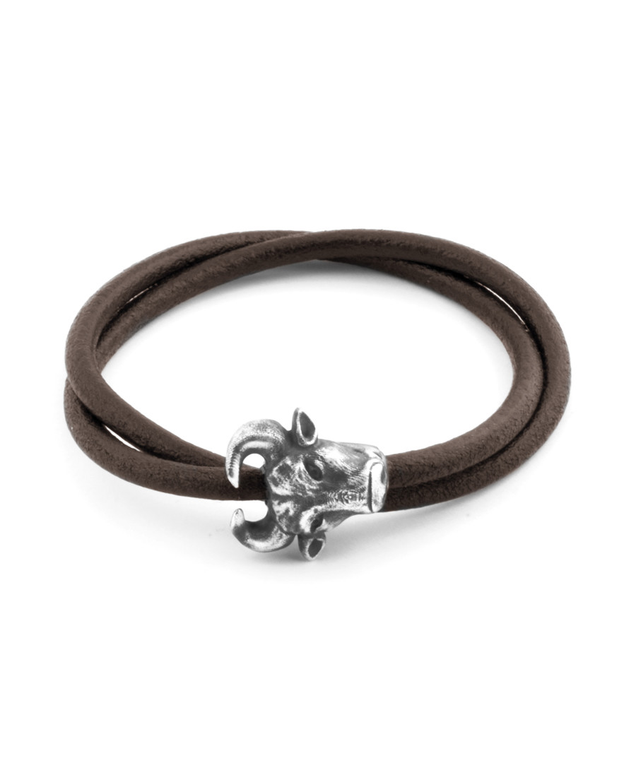 Brown leather cow bracelet Sale - Tateossian London